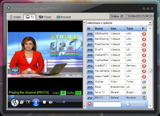 Posturi TV online din toata lumea, posturi TV adaugate pe
